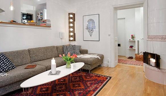 Phong cách cổ điển kết hợp với hiện đại trong căn hộ nhỏ