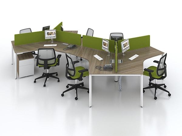 """""""Làm mới"""" không gian văn phòng với mẫu vách ngăn nỉ DK VNN06"""