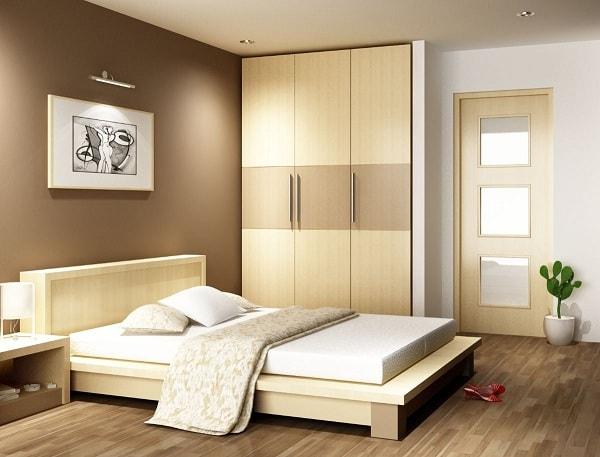 Không nên đặt đầu giường hướng ra cửa phòng ngủ