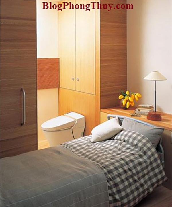 Giường ngủ không nên đặt sát phòng vệ sinh