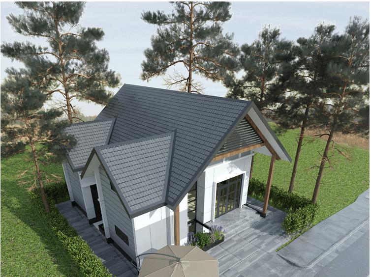Mái tôn theo kiểu kiến trúc miền Bắc