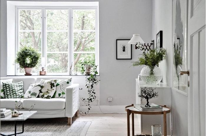 Tone màu trắng xám làm không gian như mở rộng