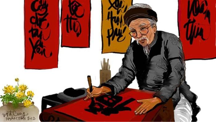 Xin chữ treo tranh là nét văn hóa truyền thống của người Việt