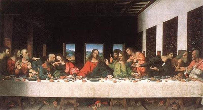 """Bức tranh """"Bữa ăn tối cuối cùng"""" của danh họa Leonardo de Vinci là một trong những nguồn gốc của con số 13 không may mắn"""