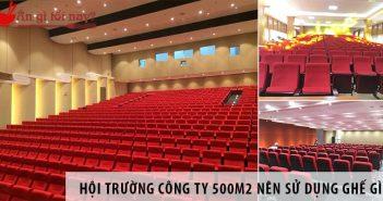 Thiết kế hội trường công ty 500m2 nên sử dụng ghế gì?