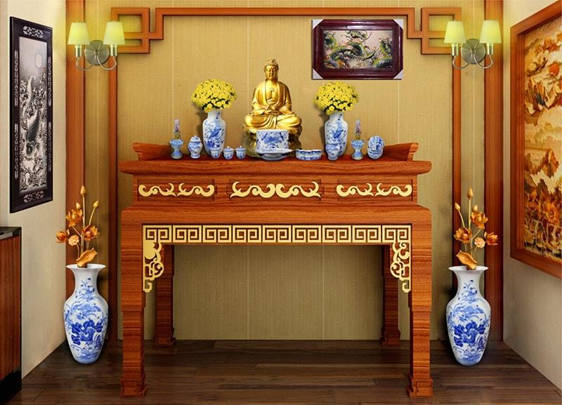Hướng dẫn bố trí tủ thờ Phật hợp phong thủy