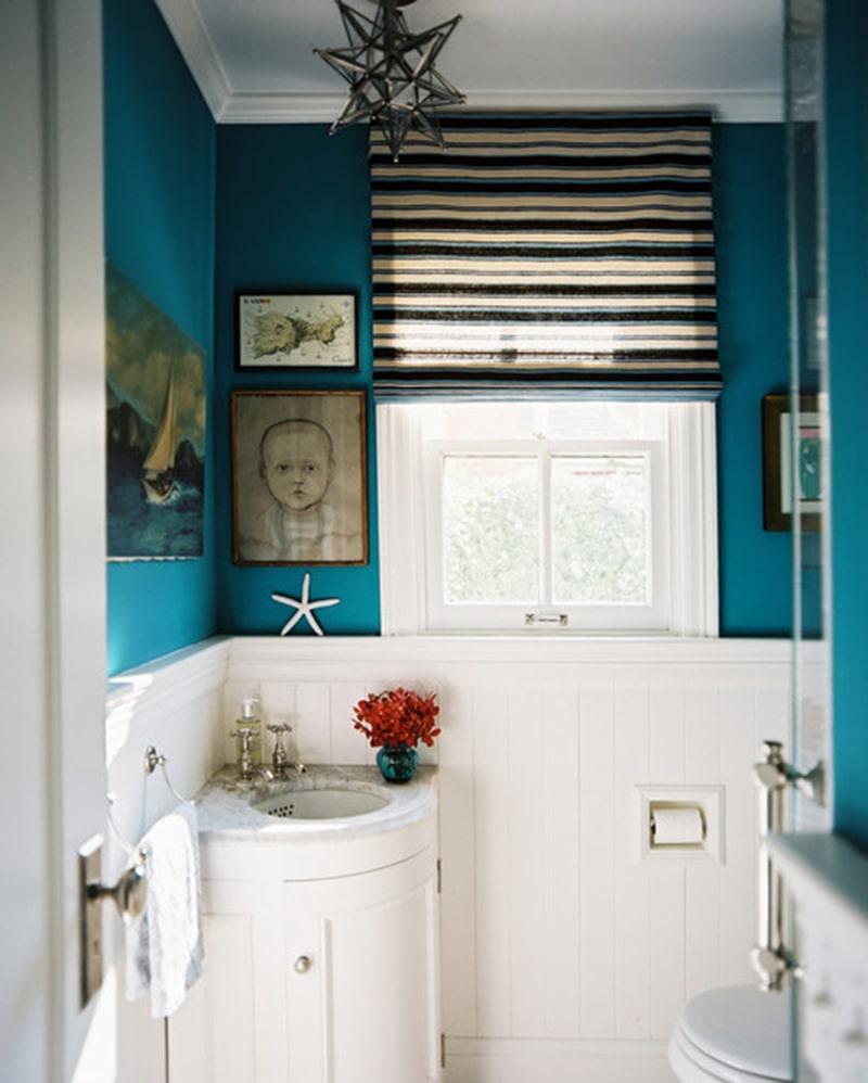 Bạn có thể lắp đặt một chiếc bồn rửa vào góc như hình
