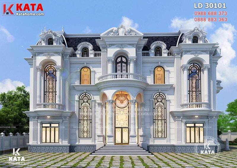 Biệt thự cổ điển 2 tầng đơn giản