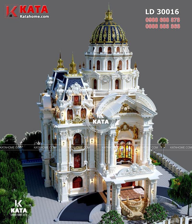 Thiết kế biệt thự cổ điển 7 tầng