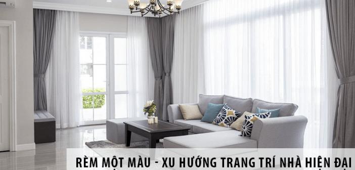 Rèm một màu - Xu hướng trang trí thiết kế nhà hiện đại