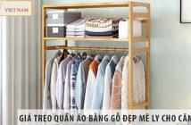 Những mẫu giá treo quần áo bằng gỗ đẹp mê ly cho căn phòng