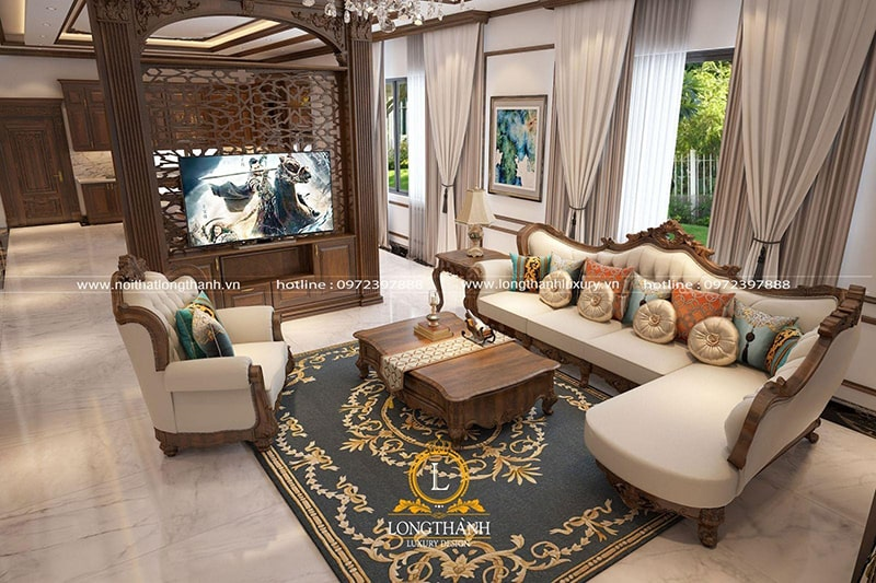 Vị trí kê đặt sẽ một phần quyết định vẻ đẹp của bộ sofa
