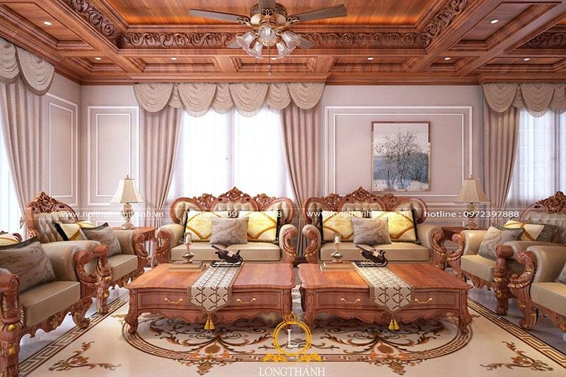Sofa gỗ tự nhiên luôn là sang trọng nhất, đẳng cấp nhất